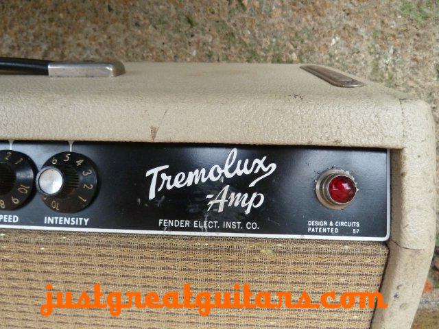 Fender Tremolux Head White Tolex 4