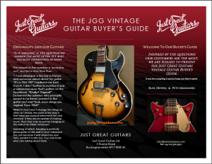 buying a vintage guitar,